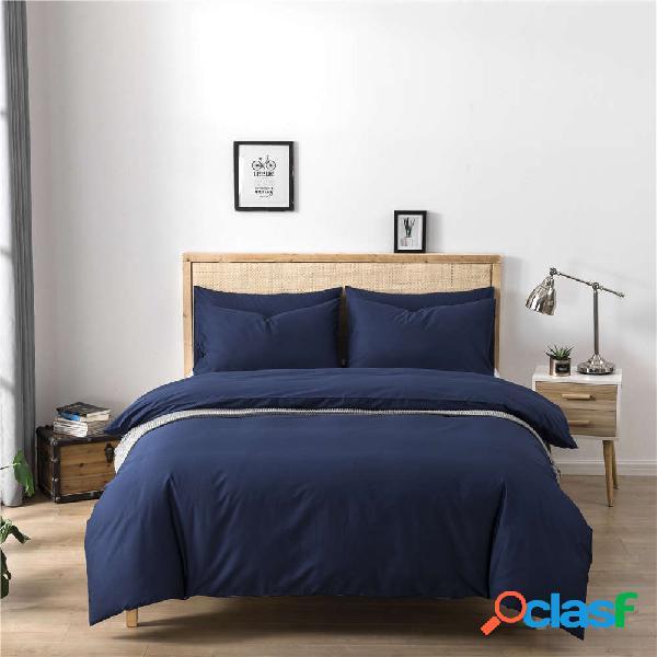 Kit de tres piezas de algodón Color sólido Ropa de cama