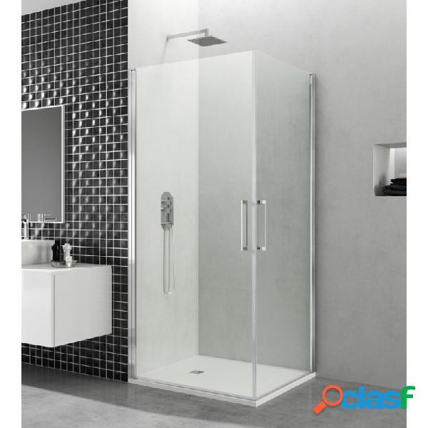 Mampara de ducha gme 45x80 cm open combi k angular abatible