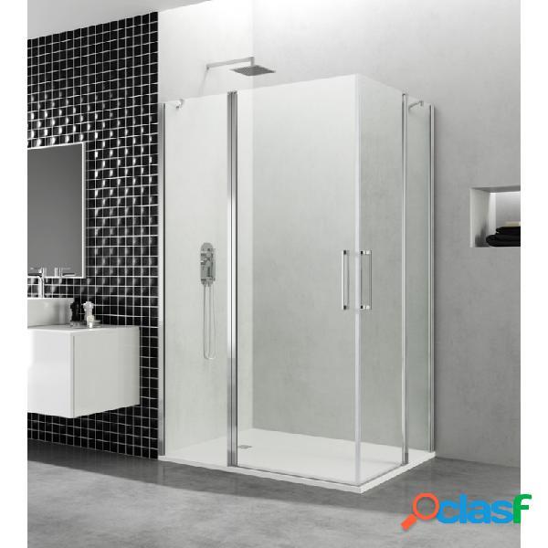 Mampara de ducha gme 80x80 - 40+40+40+40 cm open combi h