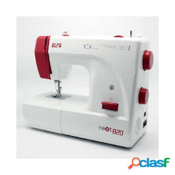 Maquina de coser alfa next820 roja
