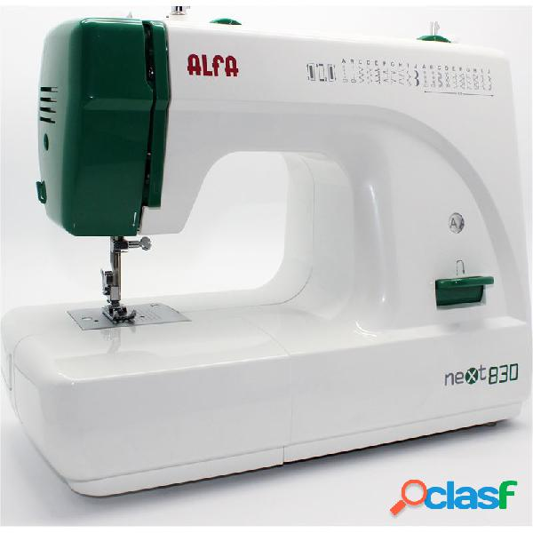 Maquina de coser alfa next830 verde