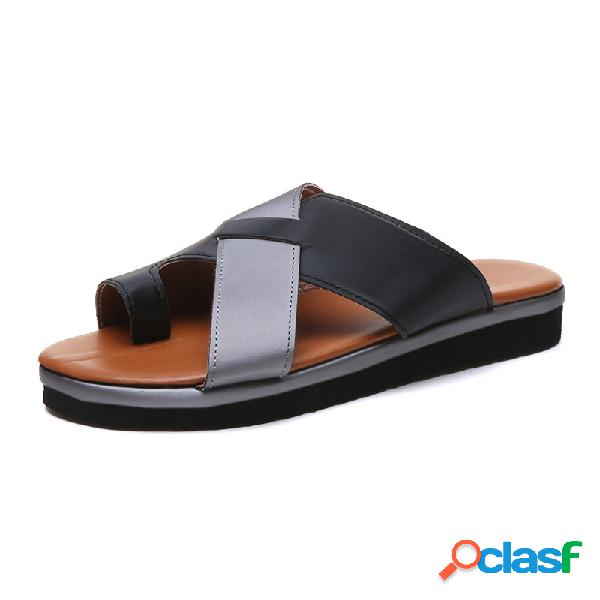 Mujer Casual Soft Clip Toe al aire libre Playa zapatillas