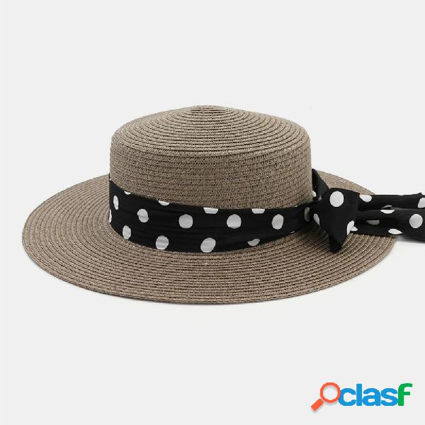 Mujer Flat Sombrero al aire libre Travel Jazz Straw Sombrero
