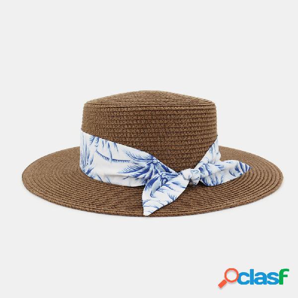 Mujer Viajes Vacaciones Playa Sombrero Jazz Straw Sombrero