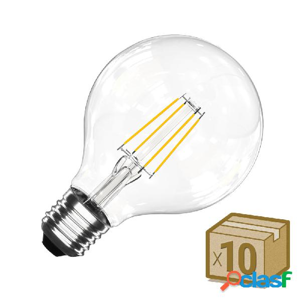 Pack 10 x bombillas led e27 cob filamento 8w ø95x135mm