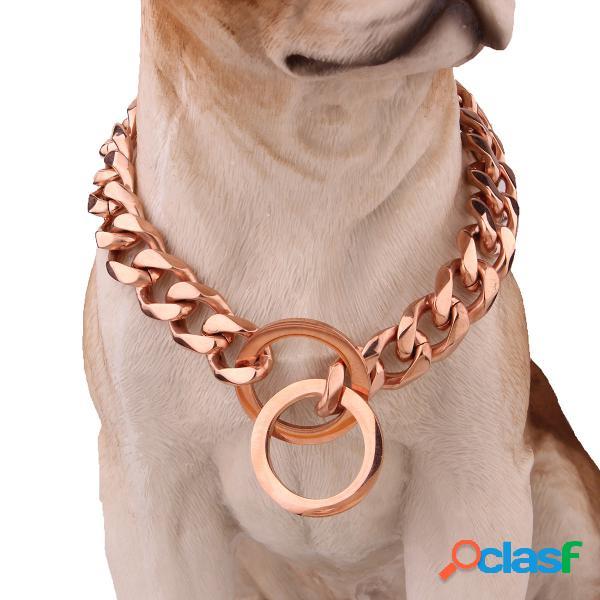 Pet Dog Collar Chain Acero inoxidable Estrangulación