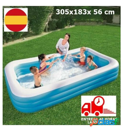 Piscina Hinchable rectangular 305 x 183 cm