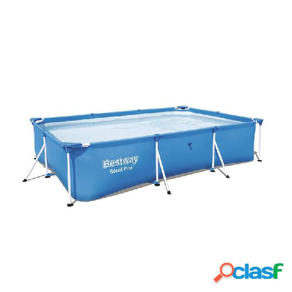 Piscina bestway steel pro 56404 cuadrada azul 300x201x66 cm