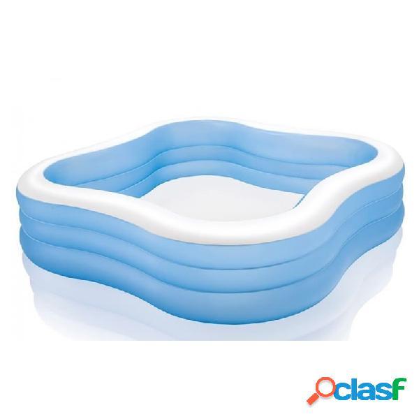 Piscina intex hinchable infantil azul 1250 litros