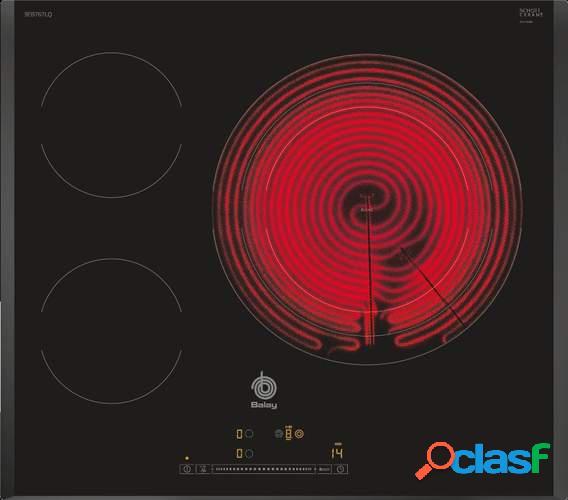 Placa Vitrocerámica Balay 3EB767LQ - 3 zonas (1 Gigante