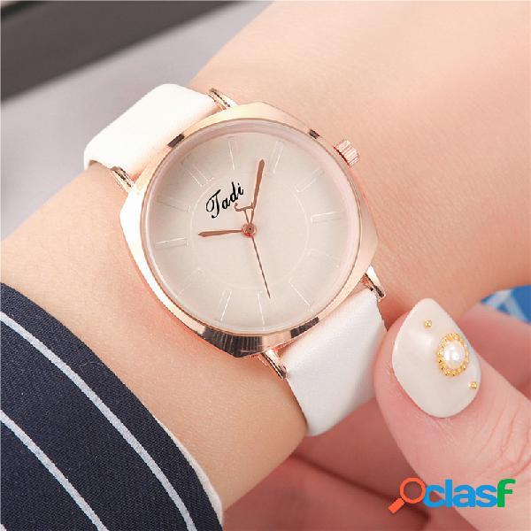 Simple Trendy Mujer Reloj de pulsera de aleación de oro