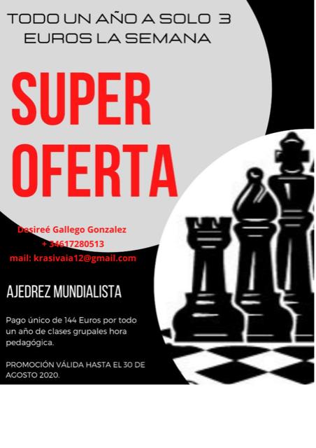 Super oferta clases ajedrez - Madrid Ciudad