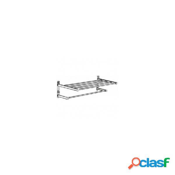 Toallero repisa doble manillons bassic cromo 53 cm