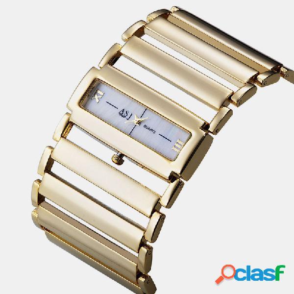 Trendy Casual Mujer Reloj de pulsera con correa de aleación