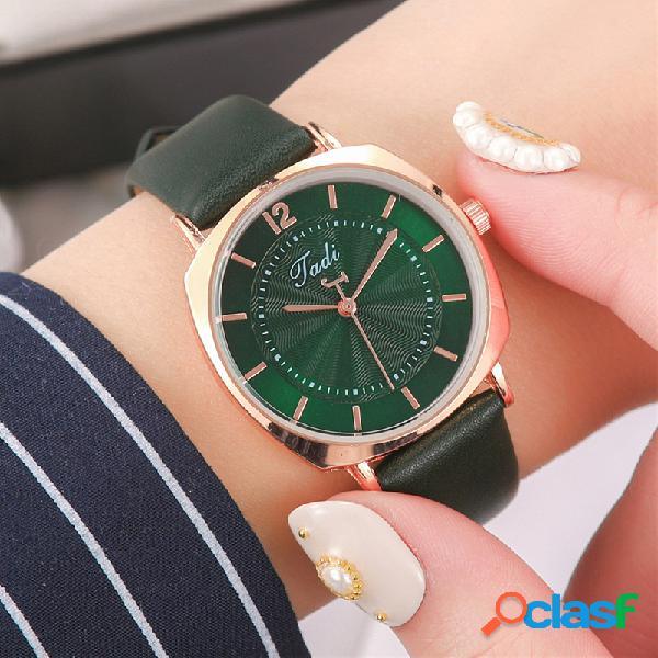 Trendy Elegant Mujer Reloj de pulsera de aleación de oro