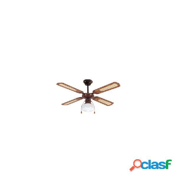 Ventilador de techo imp50229bh con luz marron