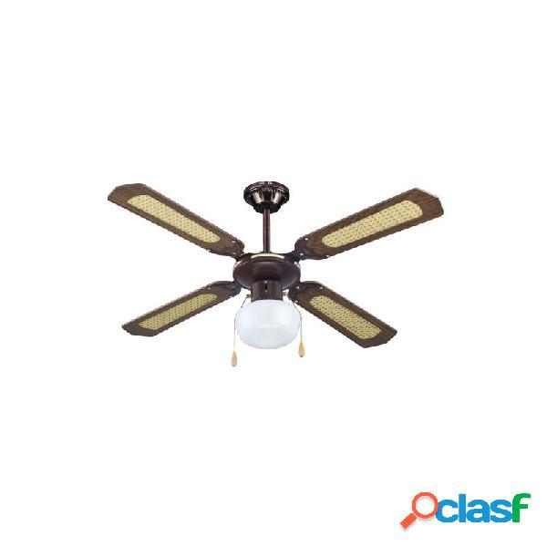 Ventilador de techo imp50410 con luz marron