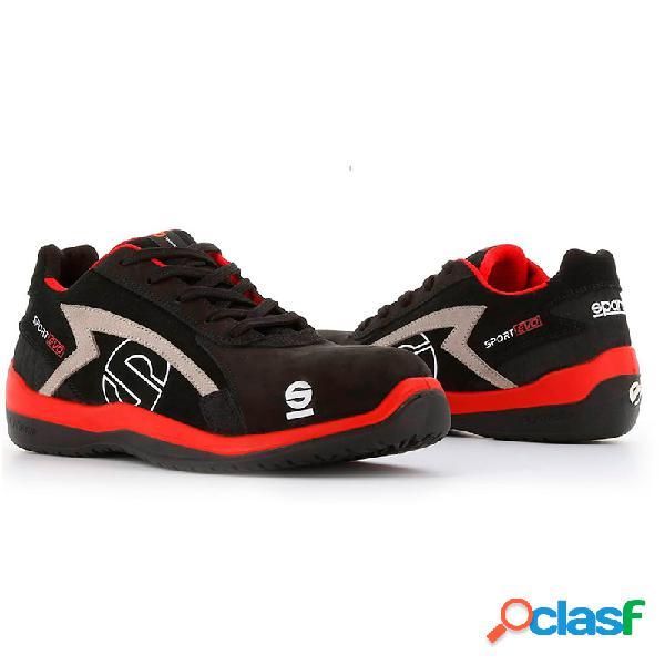 Zapato seguridad sparco sport evo s3 rojo y negro talla 41
