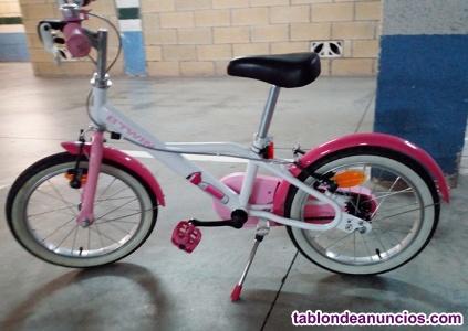 Bicicleta 16 pulgadas + patinete 4 ruedas + casco de regalo.