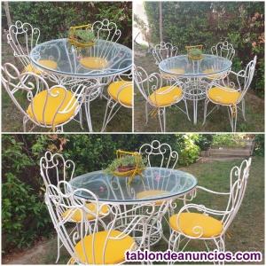 Venta mesa y sillas de jardin