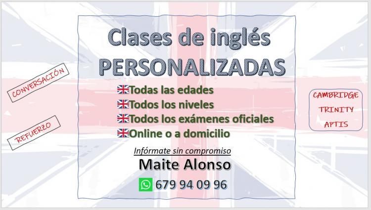 Clases de inglés, todos los niveles y edades