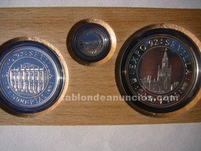 Monedas plata conmemorativas EXPO 92
