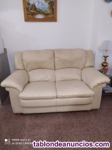 Vendo sofá piel 2 plazas