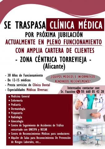 SE TRASPASA CLÍNICA MÉDICA. Zona Céntrica de Torrevieja