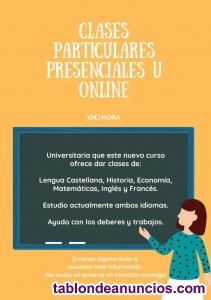 Clases particulares presenciales u online