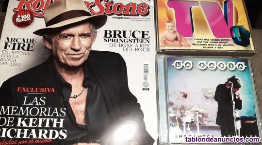 Vendo Lote (3 unidades): Revista Rolling Stone, Cd MEGA TV y