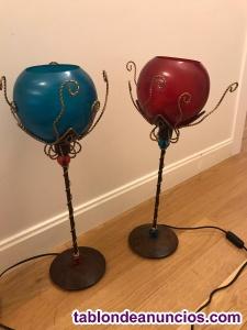 Dos lamparas mesilla 55 cms altura