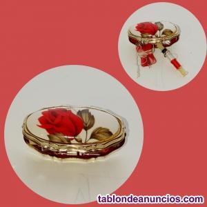 Minicosturero de metal y porcelana