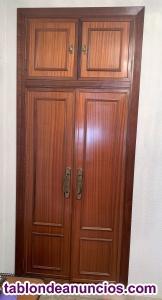 Puertas armario madera maciza 2 hojas