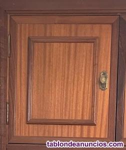 Puertas armario madera maciza 3 hojas