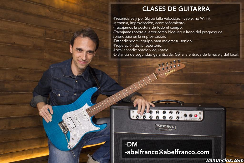 Clases de guitarra presenciales y por Skype - Madrid
