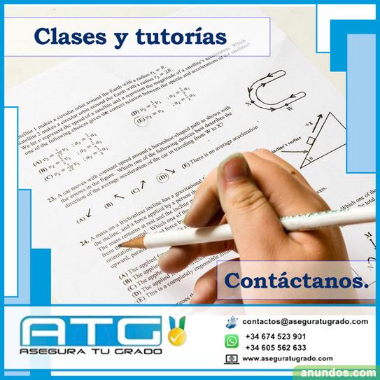 Clases particulares y tutorias especializadas - Madrid