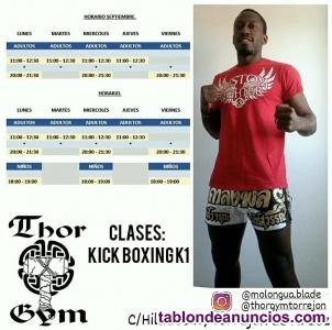Clases colectivas de kick boxing/K1 por Daniel Molongua