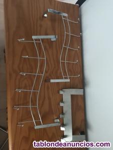Perchas metálicas para colgar detrás de la puerta