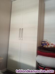 Oferta armario 2 puertas blanco acabado en roble