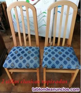2 preciosas sillas clásicas color beige