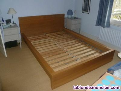 Estructura cama, somier y colchón IKEA