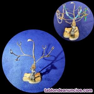 Composición en bronce macizo de pescadera y árbol