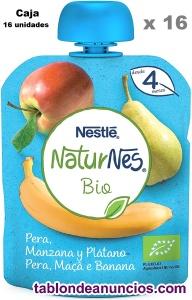 16 UNIDADES Nestlé Naturnes Bio Bolsita de puré de Pera,