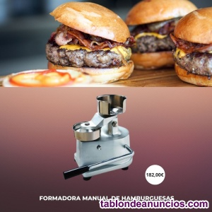 Formadora de hamburguesas diámetro 130 mm manual de 200