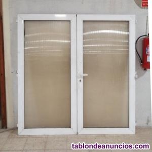 Puerta doble de PVC y plástico 188x193cm