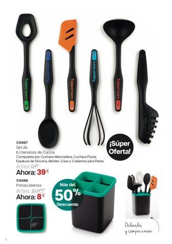 Set de utensilios de cocina y cubertero tupperware