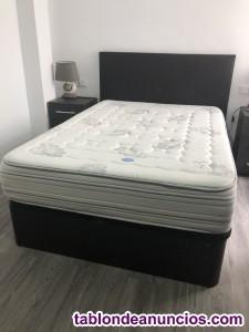 La cama doble con colchón