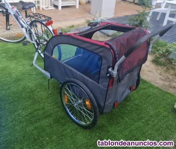 Carrito remolque de bicicleta para perros