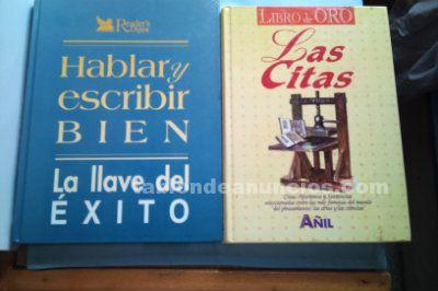 Dos libros de como hablar y escribir bien y grandes citas