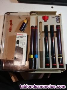Rotring 5 plumillas + cabezal y tinta